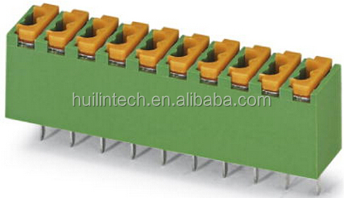 Mini pitch 3.5mm spring terminal blocks 2-16 poles