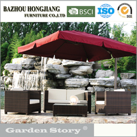 054 Rattan patio outdoor furniture with white cushion sofa set