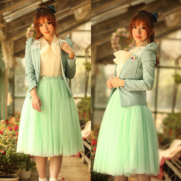 2015 fashion princess fairy style 2 layers bouffant 4 colors girls puffy dresses tulle skirt 5174