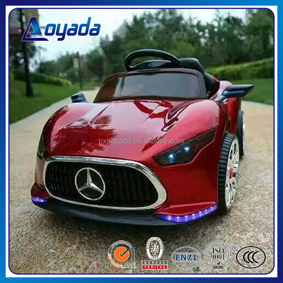 Hot sale luxury benz mark RC electric toy car with baking varnish for kids to ride on
