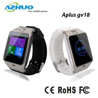 Aplus GV18 Bluetooth Smart Phone support NFC Cam Sync Call SMS for iphone Samsung Android cheap smart watch bluetooth phone