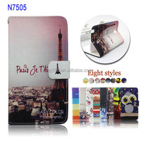 For Samsung Galaxy Note 3 Lite N7505 Printed Wallet Flip Leather Case Wholesale