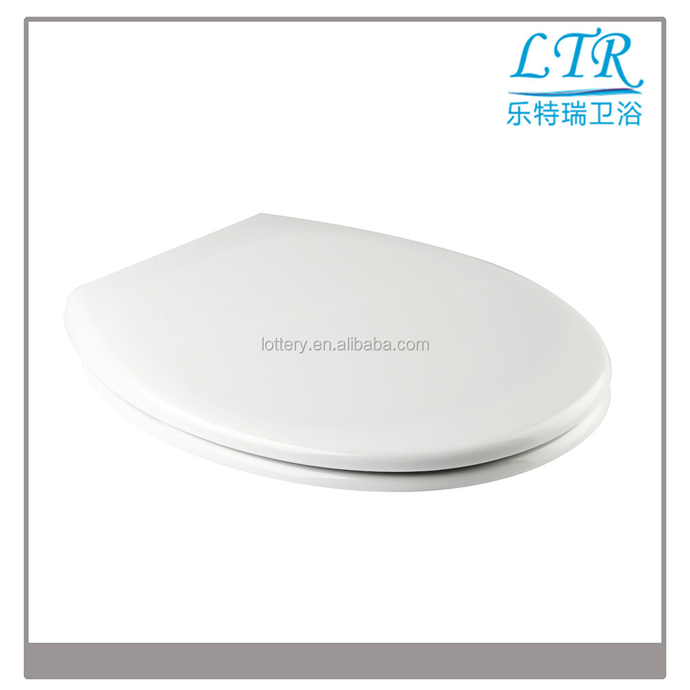 Bathroom soft close plastic and easy install toilet seat lid