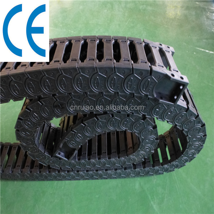 CE approved tez series plastic drag chain flexible cable tracks
