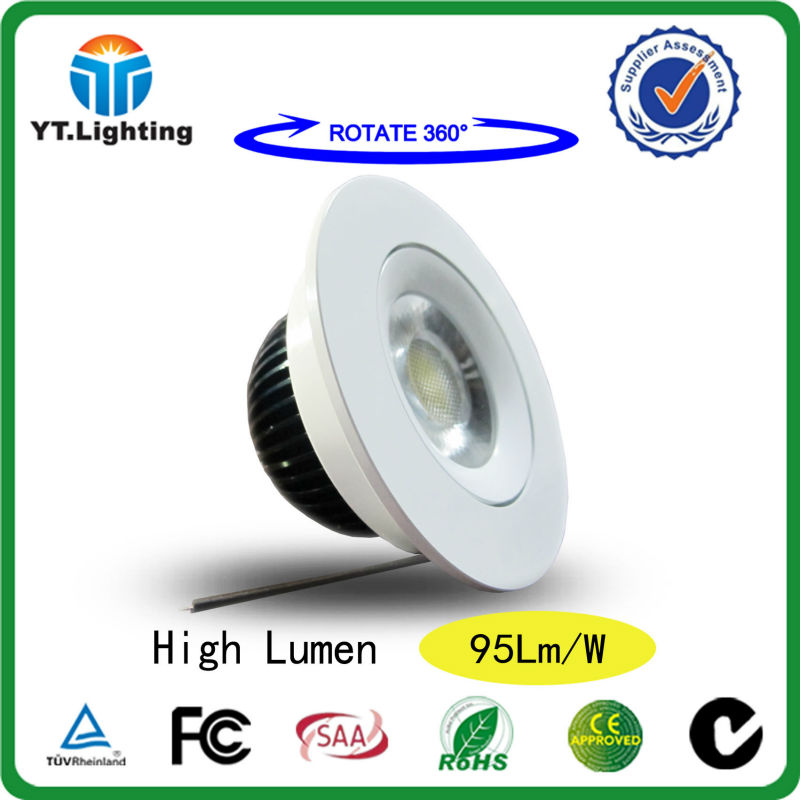CE RoHS FCC TUV High Lumen 365 Degree Rotatable 5W 7W LED COB Down lights LED