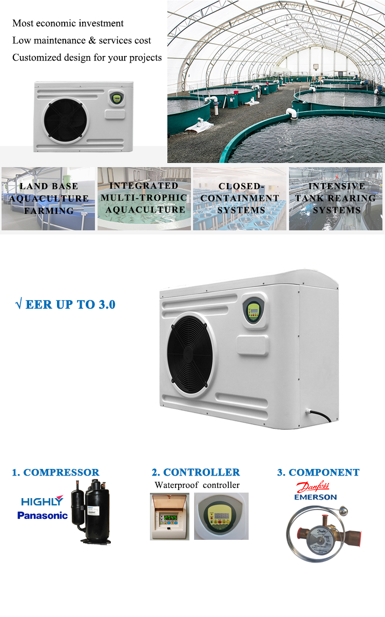 Altaqua titanium coil fish chiller for farming