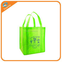 Recycled promotional non woven shoe bag with customized logo printing, ultrasonic non woven shopping bag