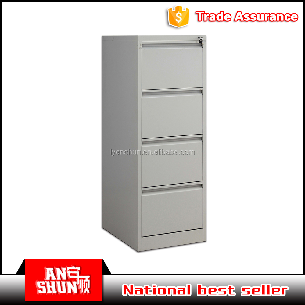 Anti-rusty office unassembled steel 4 drawers file storage cabinet