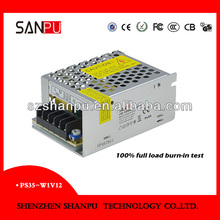 SANPU small size 100-240VAC 12v dc power supply wireless tattoo power supply manufacturer,suppliers and exporters