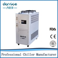 Security Protection Stainless Steel Water Tank Copper Coil Evaporator 10kw Industrial Chiller
