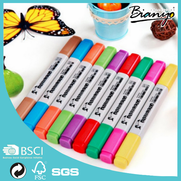 Non-Toxic Plastic Double End Alcohol Based Waterproof Art Permanent Marker Pen