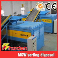 MSW shredder, domestic waste sorting and disposal system