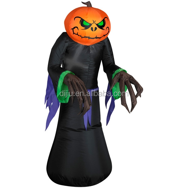 Inflatable Pumpkin Ghost Halloween Decoration Blow up