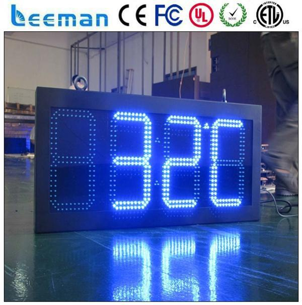led time clock billboard paragon timers LED clock humidity sign