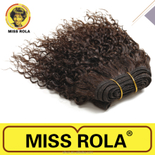 Fashion Bebe Curl Human Hair Extension Miss Rola Hair Weave, 8 Inch Short Hair Styles For Women