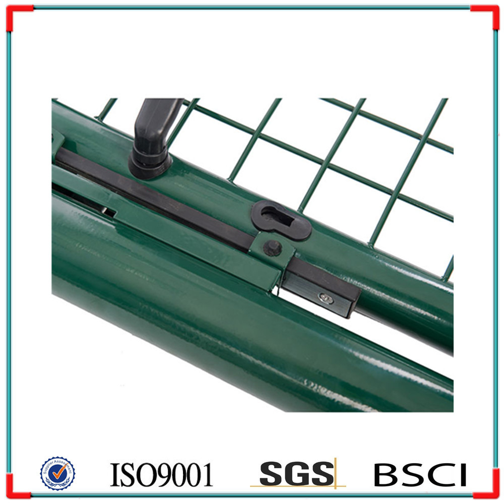 Galvanised With Lock Green Gates 100 X 175 Cm Wire Mesh Fence