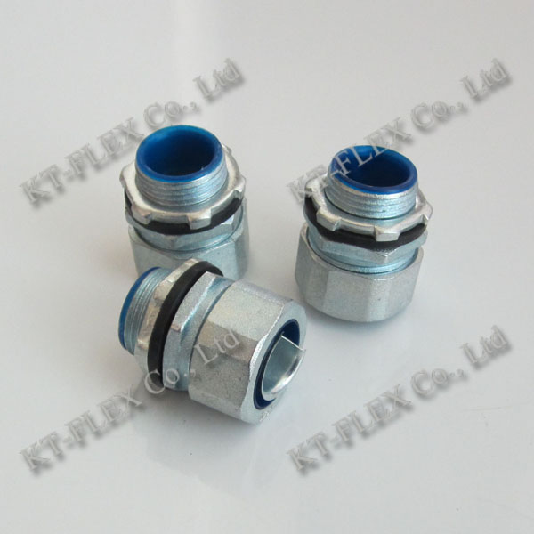 Flexible electrical conduit connector junction box connector