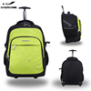 Business traveling trolley backpack laptop bags with wheels