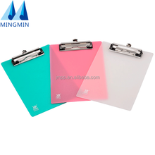A4 Plastic Printing Customized Clipboard For Office/Stationery With Flat Clamp