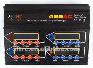 IMAX Quattro 4B6AC Multi lipo battery charger with 12V20A power supply