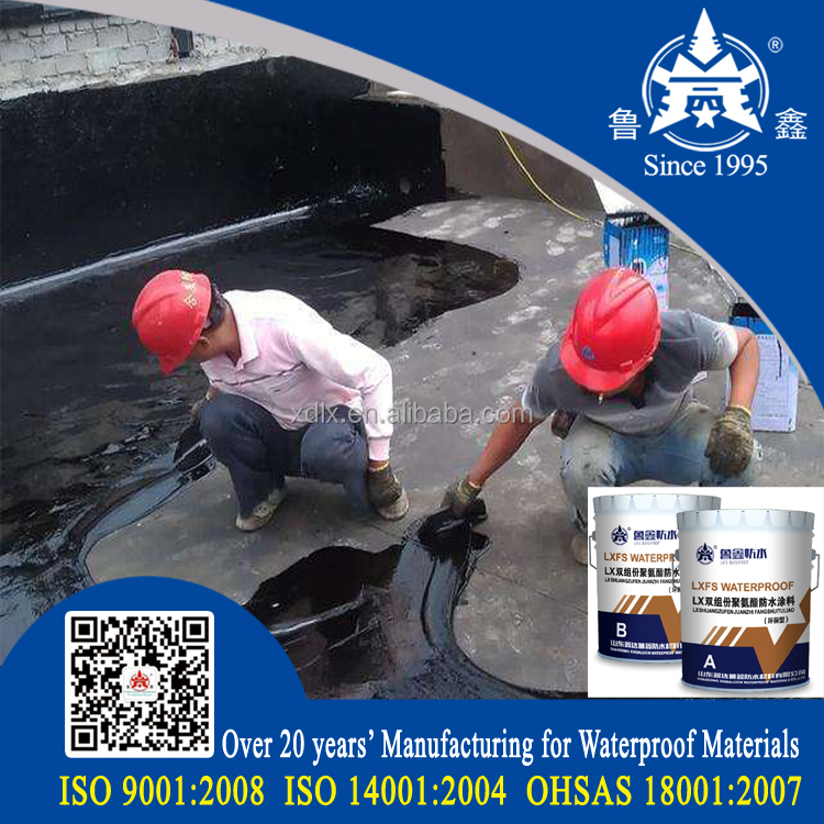 China Factory double component Color polyurethane roof waterproofing coating