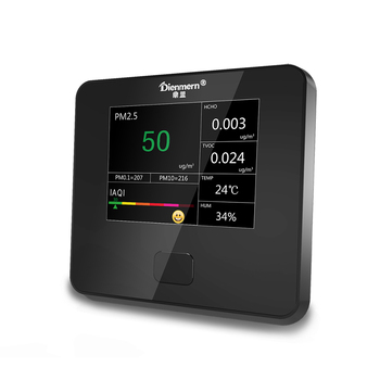 Indoor and outdoor environment detector, detect formaldehyde and TVOC and PM2.5