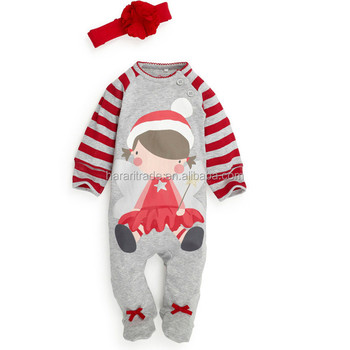 100% cotton christmas baby bodysuit, rompers