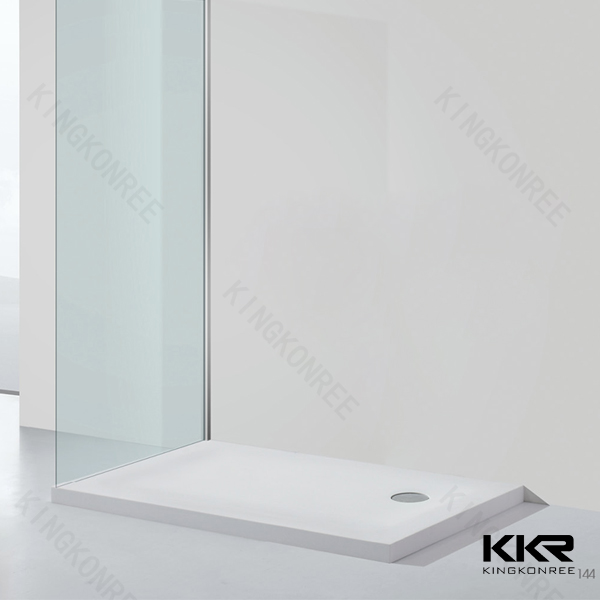 Kingkonree Shower wall & Shower base shower pan stone whole sales for hotel project