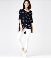 Korean Style Casual Top Tee Printing T-Shirt Women with Best Quality