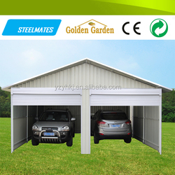 nice design made in China 2 cars mobile steel carports