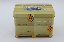 Metal Tea Tin with Lid Rectangular Tin Cans
