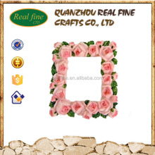 High Quality Resin Flower Rose Photo Frame, Resin Picture Photo