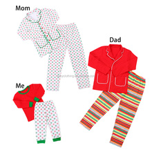 2017 kids clothes christmas family pajamas outfit wholesale christmas winter clothes