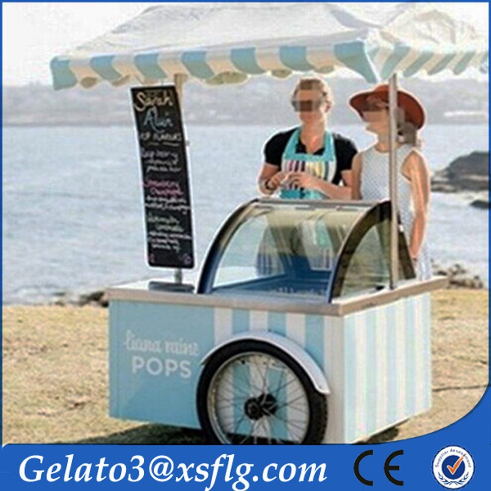 Food cart Franchise Business stripes optional ice cream cart