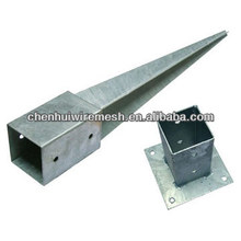 galvanized ground pole screw anchor