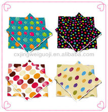 disposable decorative dotted color logo printed paper napkin/table napkin/dinner napkin