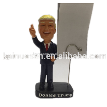 Personalized Handmade Color Painted Poly Resin Donald Trump Photo Holder