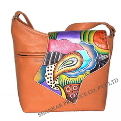 Leather Hand Painted Sling Bag