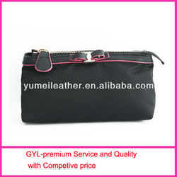2013 dark black edge black envelope clutch bag