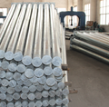 galvanized electric power column steel utility pole for outside transmission line