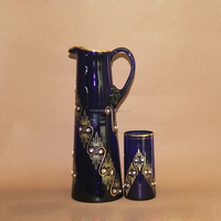 Decorative Drinking Glass Water Jug With Lid 0150H/0939B