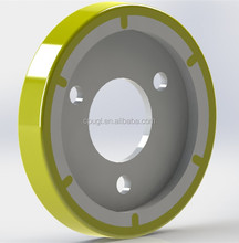 Custom electric forklift polyurethane drive wheel suitable for electric stacker