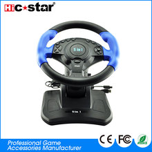 Chinese Manufacturer Power Racing Wheel Colors OEM 3 in 1 USB Cable Steering Wheel