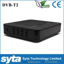 Venta caliente mini hd dvb-t2 mpeg4 receptor de tv digital receptor satelital hace en china
