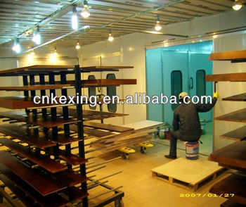 CE water curtain furniture paint drying cabin