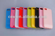 Pack of 10 Colorful Premium Candy TPU silicone Bumper Case for Apple iPhone 5