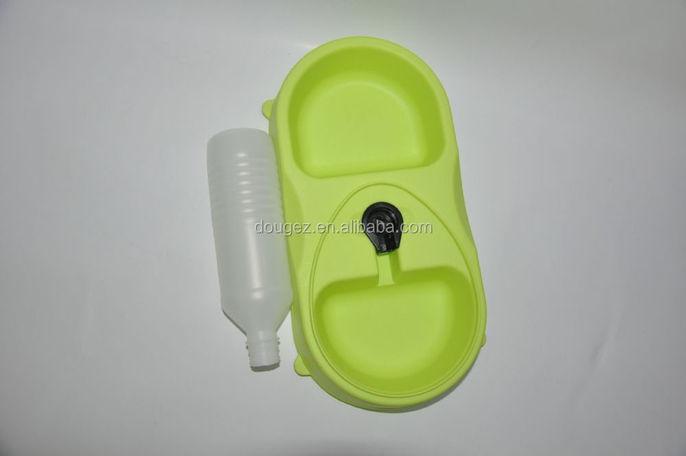 Plastic Food Dispenser Pet Bowls and Feeders Dogs Cats Dual Use