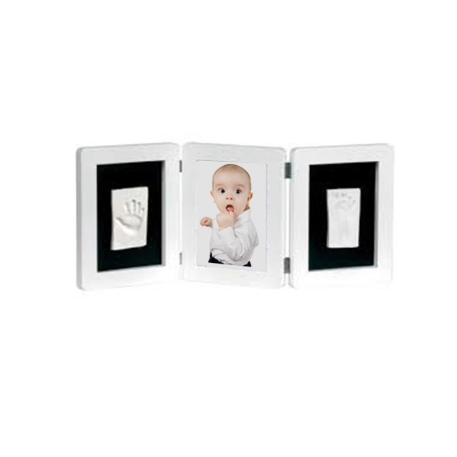 Baby Imprint Clay High Quality Wood Frame Souvenir Gift