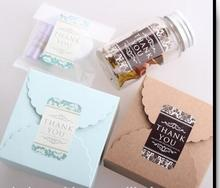 "2 Color gift boxs and bags seal sticker label vintage ""Thank You"" adhesive paper sticker label"