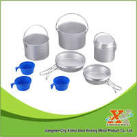 camping cook pot set camp pot camp cook ware set